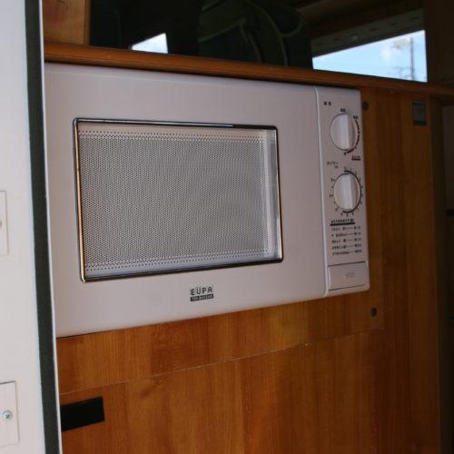 電子レンジは外部充電にて使用可能になっております。