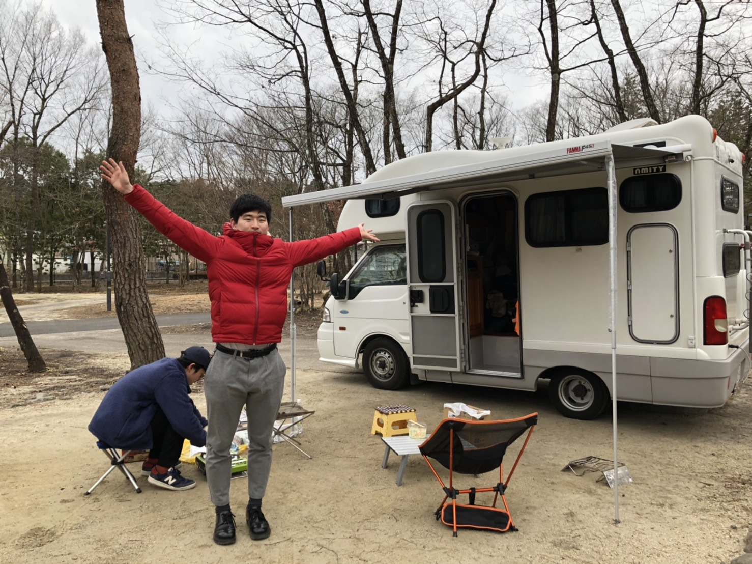 男だけのキャンプも楽しい!