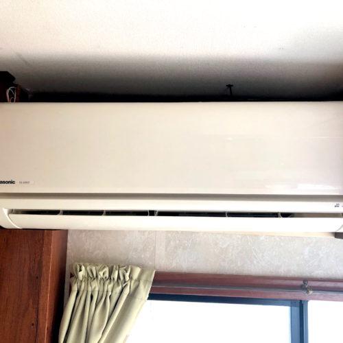 外部充電での使用可能な家庭用クーラー完備です!