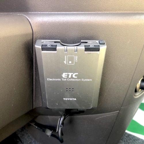 ETC完備で遠出も安心です。